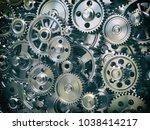 engine gear wheels. industrial...   Shutterstock . vector #1038414217