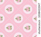shabby chic rose seamless...   Shutterstock .eps vector #1038422047