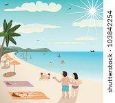 illustration of a white sand... | Shutterstock .eps vector #103842254