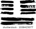 set of grunge brush strokes     | Shutterstock .eps vector #1038425077