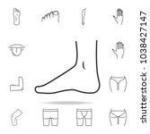 foot  foot standing icon....   Shutterstock .eps vector #1038427147