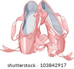 a pair of well worn balle shoes | Shutterstock .eps vector #103842917