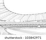 football soccer stadium vector... | Shutterstock .eps vector #103842971