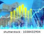 businessman on digital stock...   Shutterstock . vector #1038432904