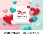 mother's day greeting card... | Shutterstock .eps vector #1038435979