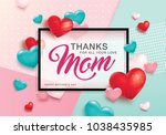 mother's day greeting card... | Shutterstock .eps vector #1038435985
