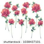 i made a beautiful rose a... | Shutterstock .eps vector #1038437101