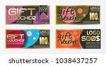gift certificate voucher coupon ... | Shutterstock .eps vector #1038437257