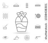 fast food bucket roasted... | Shutterstock .eps vector #1038438301