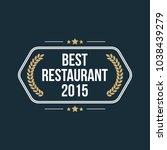 best restaurant badge | Shutterstock .eps vector #1038439279