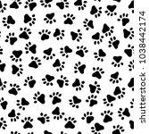 footprint pattern of the animal ... | Shutterstock .eps vector #1038442174
