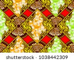 textile fashion african print... | Shutterstock .eps vector #1038442309