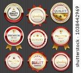 premium commercial golden ... | Shutterstock .eps vector #1038442969