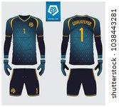 goalkeeper jersey or soccer kit ... | Shutterstock .eps vector #1038443281