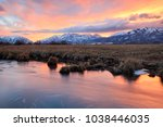 winter sunset in the wasatch... | Shutterstock . vector #1038446035