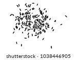 white rice random pattern... | Shutterstock .eps vector #1038446905