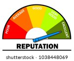 reputation level indicator | Shutterstock . vector #1038448069