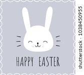 happy easter. vector... | Shutterstock .eps vector #1038450955