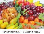 popular thai dessert in... | Shutterstock . vector #1038457069