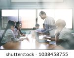 team at work  group of asia...   Shutterstock . vector #1038458755