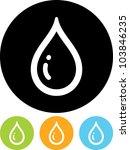 Drop Of Water   Vector Icon...