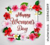 international happy women's day ... | Shutterstock .eps vector #1038463849