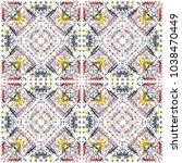 tribal seamless pattern. hand... | Shutterstock . vector #1038470449