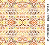 tribal seamless pattern. hand... | Shutterstock . vector #1038470455