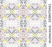 tribal seamless pattern. hand... | Shutterstock . vector #1038470461