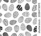 seamless easter day egg pattern ... | Shutterstock .eps vector #1038473095