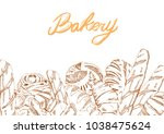 bread and pastry collection...   Shutterstock .eps vector #1038475624