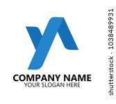 yn letter logo vector | Shutterstock .eps vector #1038489931