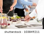 business catering dessert for... | Shutterstock . vector #103849211