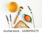 nourishing skin care natural... | Shutterstock . vector #1038494275