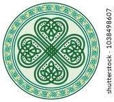 four leaf clover. irish symbol... | Shutterstock .eps vector #1038498607