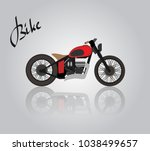 custom black motorcycle on a...   Shutterstock .eps vector #1038499657