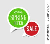 special spring offer and sale...   Shutterstock .eps vector #1038499714