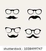 hipster sunglasses and mustache ...   Shutterstock .eps vector #1038499747