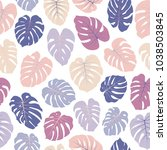 vector tropical pattern with... | Shutterstock .eps vector #1038503845