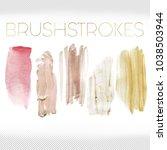 handdrawn acrylic brushstrokes | Shutterstock . vector #1038503944