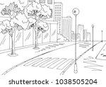 street road graphic black white ... | Shutterstock .eps vector #1038505204