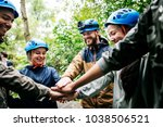 team building outdoor in the... | Shutterstock . vector #1038506521