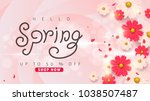 spring sale background layout... | Shutterstock .eps vector #1038507487