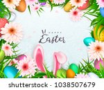 happy easter background  trendy ... | Shutterstock .eps vector #1038507679