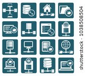 database and network icon set... | Shutterstock .eps vector #1038508504