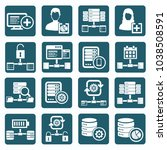database and network icon set... | Shutterstock .eps vector #1038508591
