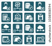 database and network icon set... | Shutterstock .eps vector #1038508594