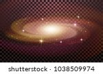 realistic milky way spiral... | Shutterstock .eps vector #1038509974
