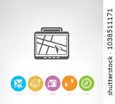 map and gps navigation icons | Shutterstock .eps vector #1038511171