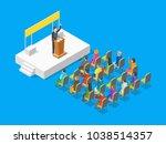 politician business concept 3d...   Shutterstock .eps vector #1038514357